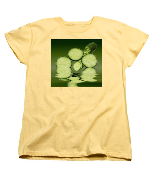Cool As A Cucumber Slices Women's T-Shirt (Standard Cut) by David French
