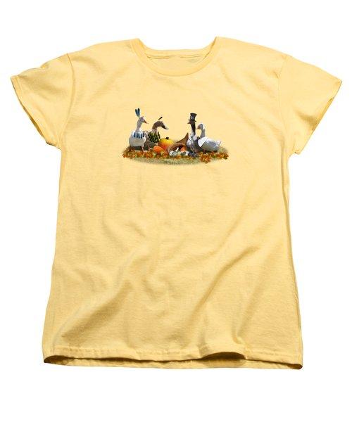 Thanksgiving Ducks Women's T-Shirt (Standard Cut)