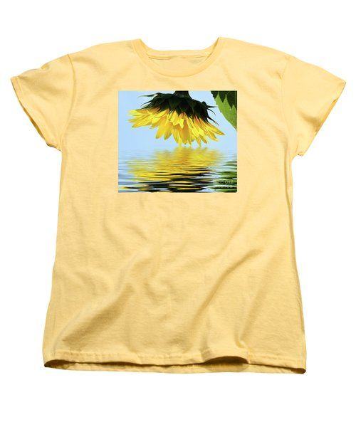 Nice Sunflower Women's T-Shirt (Standard Cut) by Elvira Ladocki