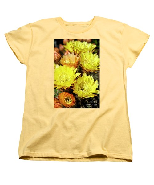 Yellow Cactus Flowers Women's T-Shirt (Standard Cut) by Jim and Emily Bush