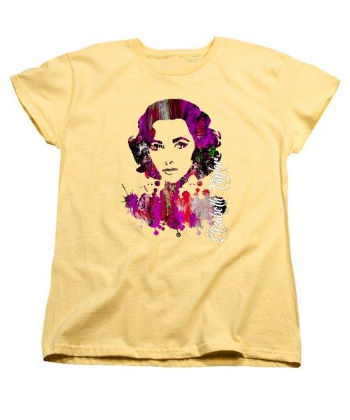 Elizabeth Taylor Collection Women's T-Shirt (Standard Cut) by Marvin Blaine