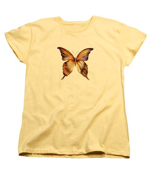 7 Yellow Gorgon Butterfly Women's T-Shirt (Standard Cut) by Amy Kirkpatrick