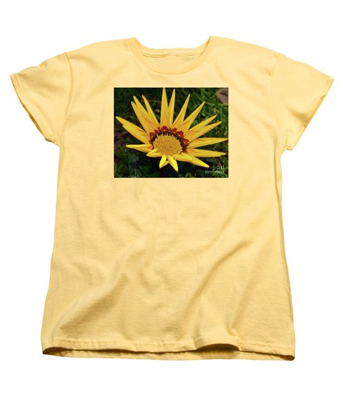 Women's T-Shirt (Standard Cut) featuring the photograph Yellow Gazania by Elvira Ladocki