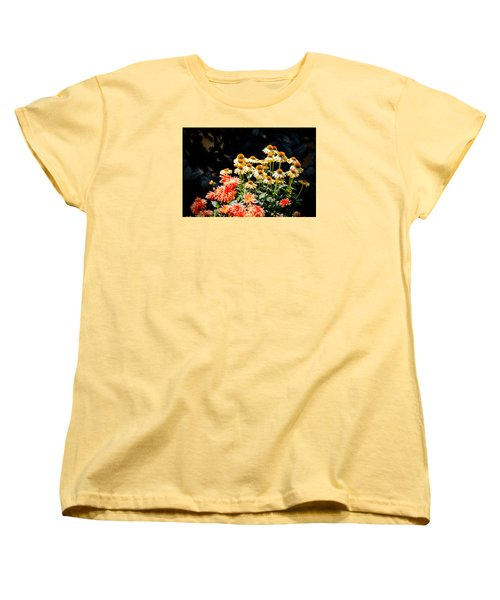 A Bright Flower Patch Women's T-Shirt (Standard Cut) by AJ  Schibig