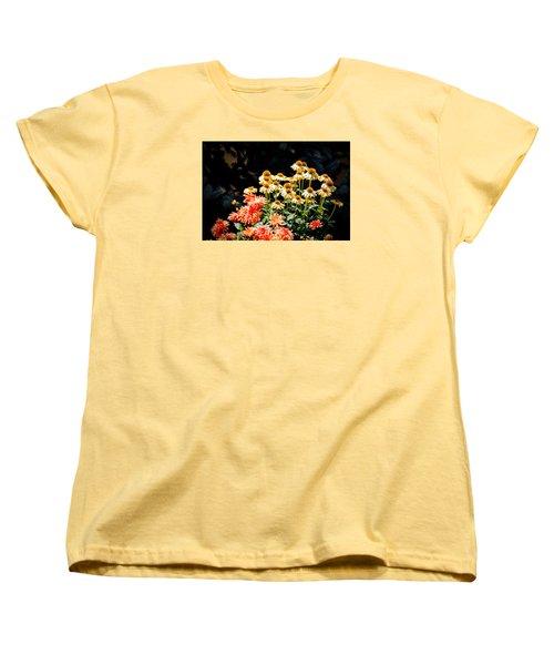 A Bright Flower Patch Women's T-Shirt (Standard Cut)