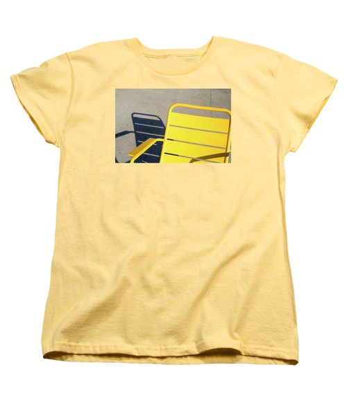 A Chair And Its Shadow Women's T-Shirt (Standard Cut) by Joseph S Giacalone