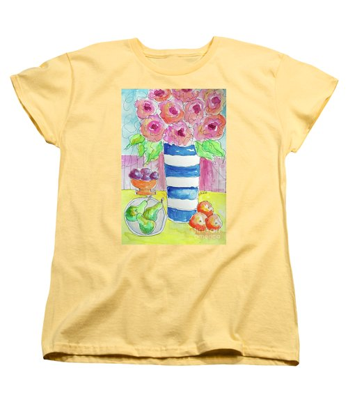 Women's T-Shirt (Standard Cut) featuring the painting Fruit Salad by Rosemary Aubut
