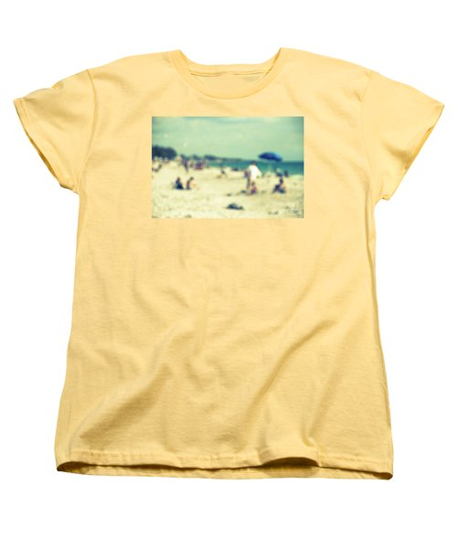 Women's T-Shirt (Standard Cut) featuring the photograph a day at the beach I by Hannes Cmarits