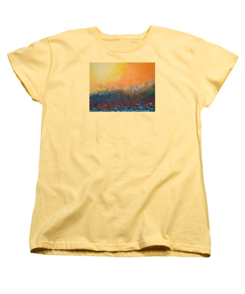 A Field In Bloom Women's T-Shirt (Standard Cut) by Dan Whittemore