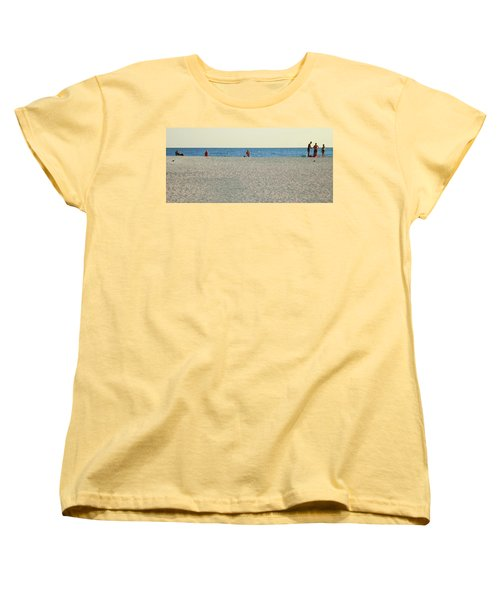 Women's T-Shirt (Standard Cut) featuring the photograph A Fine Day At The Beach by Ginny Schmidt