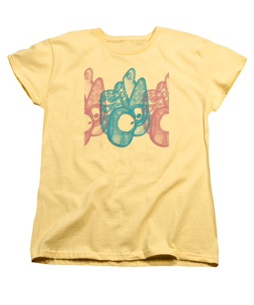 Women's T-Shirt (Standard Cut) featuring the drawing A Gathering by Uncle J's Monsters