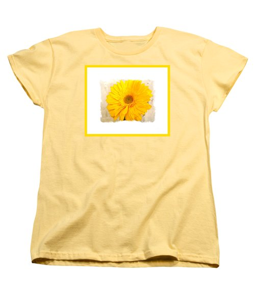 Women's T-Shirt (Standard Cut) featuring the photograph A Grand Yellow Gerber by Marsha Heiken