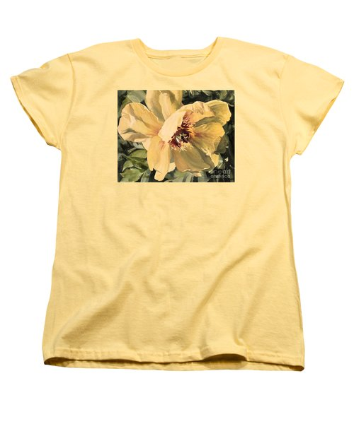 A Peony For Miggie Women's T-Shirt (Standard Cut) by Laurie Rohner