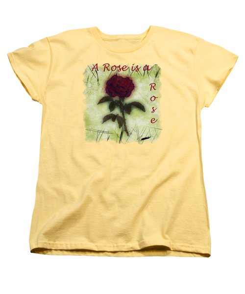 A Rose Women's T-Shirt (Standard Cut) by John M Bailey
