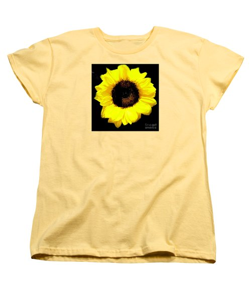 A Single Sunflower Women's T-Shirt (Standard Cut) by Merton Allen