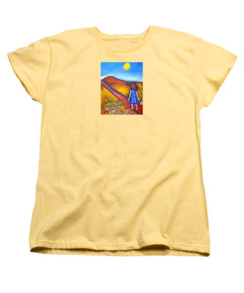 Women's T-Shirt (Standard Cut) featuring the painting A Sunny Path by Winsome Gunning