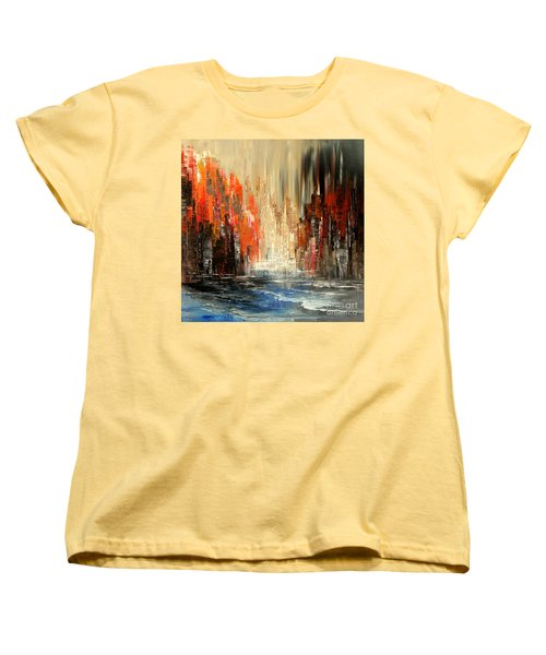 Women's T-Shirt (Standard Cut) featuring the painting A Tale Of Two Cities by Tatiana Iliina