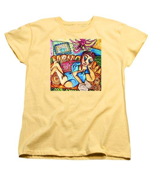 A Very Good Book Women's T-Shirt (Standard Cut) by Sandra Silberzweig