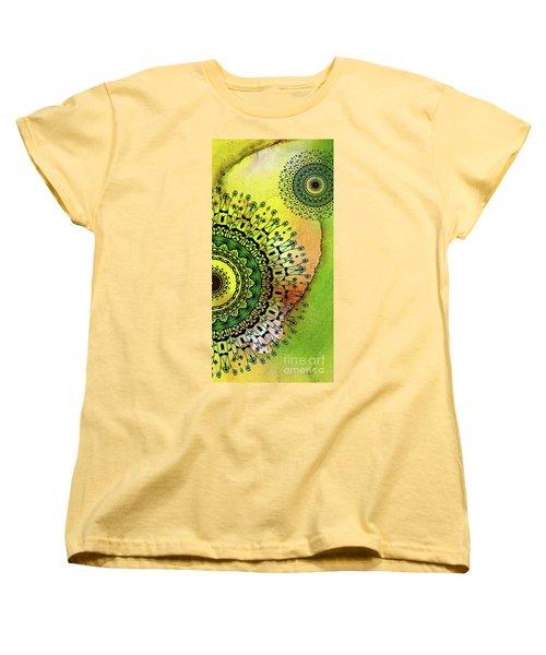 Abstract Acrylic Art The Garden Women's T-Shirt (Standard Cut) by Saribelle Rodriguez