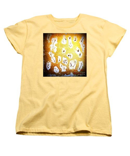 Bling Abstract Gold 1 Women's T-Shirt (Standard Cut) by Richard W Linford