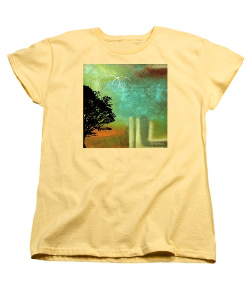 Abstract Modern Art Eternity Women's T-Shirt (Standard Cut) by Saribelle Rodriguez