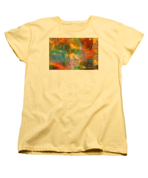 Abstract The World As It Is  Women's T-Shirt (Standard Cut) by Sherri's Of Palm Springs
