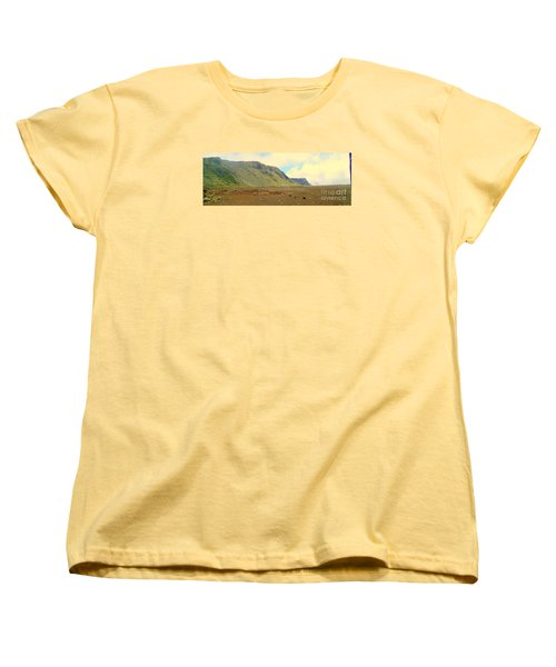 Active Volcano Women's T-Shirt (Standard Cut) by John Potts
