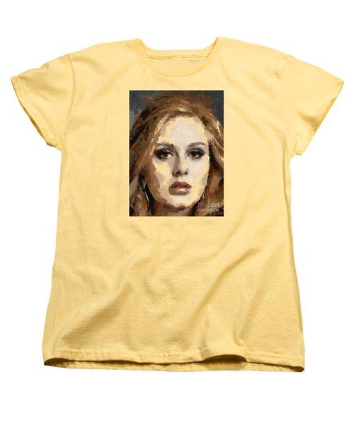 Adele Women's T-Shirt (Standard Cut) by Dragica Micki Fortuna