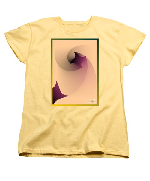 Women's T-Shirt (Standard Cut) featuring the digital art Affect by Leo Symon