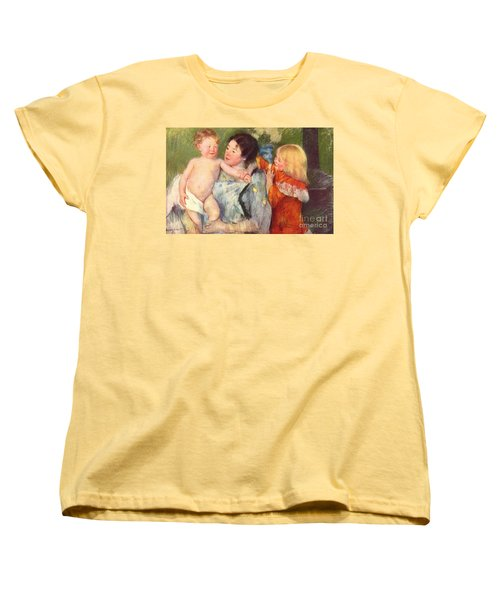 After The Bath Women's T-Shirt (Standard Cut) by Cassatt
