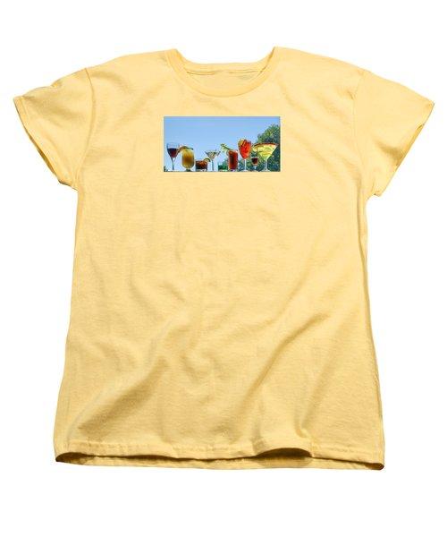 Alcoholic Beverages - Outdoor Bar Women's T-Shirt (Standard Cut) by Nikolyn McDonald