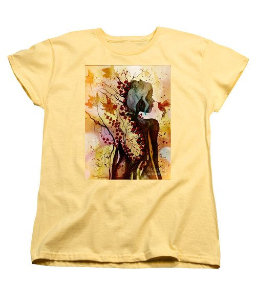 Alex In Wonderland Women's T-Shirt (Standard Cut) by Denise Tomasura