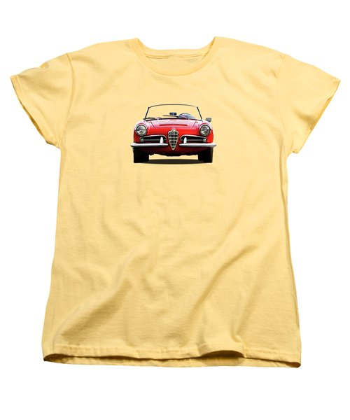 Alfa Romeo Spider Women's T-Shirt (Standard Cut) by Mark Rogan