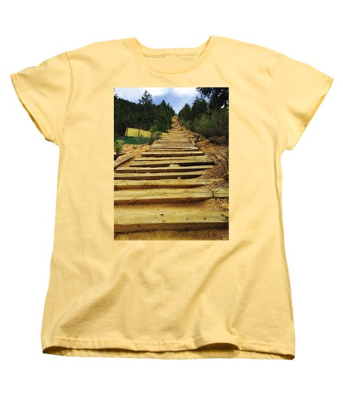 All The Way Up Women's T-Shirt (Standard Cut) by Christin Brodie