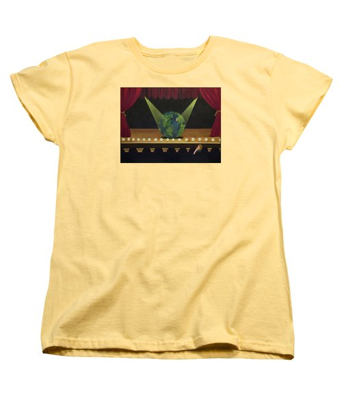 All The World's On Stage Women's T-Shirt (Standard Cut) by Thomas Blood