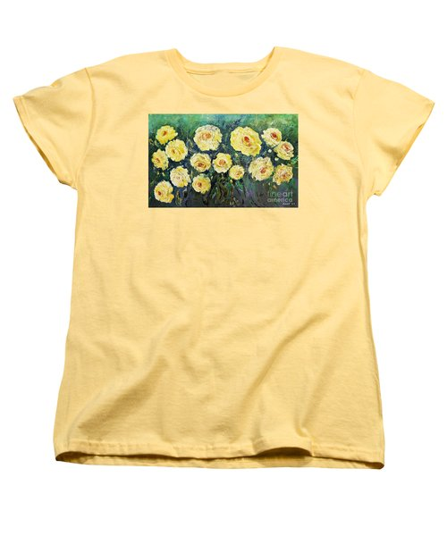 All Yellow Roses Women's T-Shirt (Standard Cut)