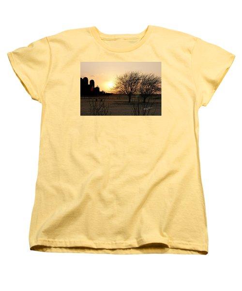 Amarillo Sunset Women's T-Shirt (Standard Cut) by Ricky Dean