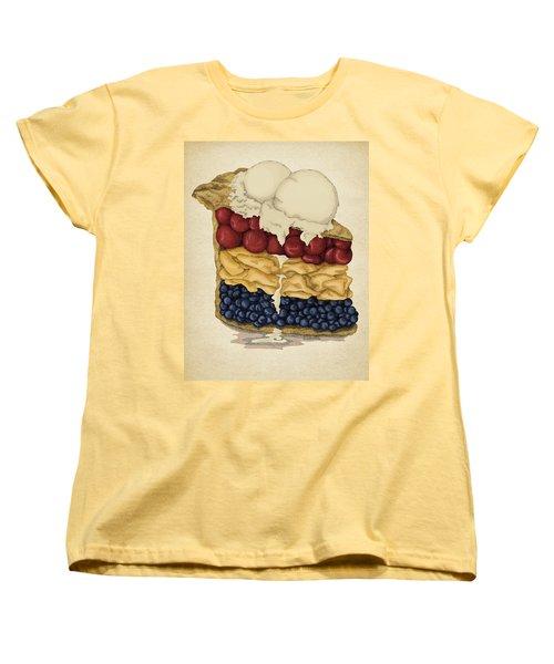 American Pie Women's T-Shirt (Standard Cut) by Meg Shearer
