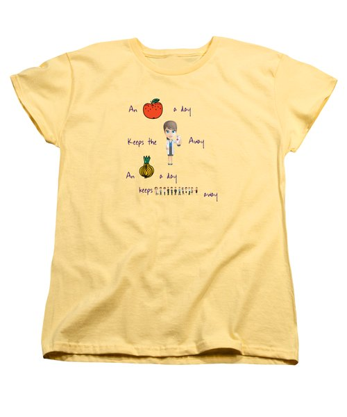 An Apple A Day Women's T-Shirt (Standard Cut)