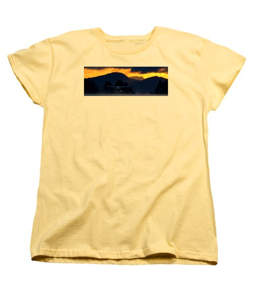 Women's T-Shirt (Standard Cut) featuring the photograph An Early Departure by Mark Alan Perry