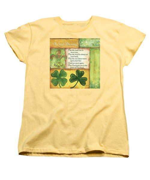 Women's T-Shirt (Standard Cut) featuring the painting An Irish Blessing by Debbie DeWitt
