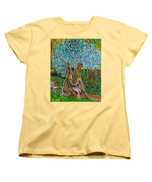 Ancient Olive Tree Women's T-Shirt (Standard Cut) by Valerie Ornstein