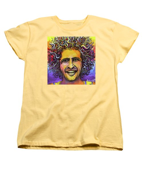 Women's T-Shirt (Standard Cut) featuring the painting Andy Frasco by David Sockrider