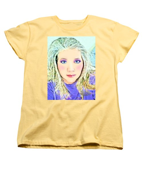 Women's T-Shirt (Standard Cut) featuring the photograph Angel Eyes by Barbara Tristan