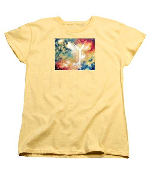 Women's T-Shirt (Standard Cut) featuring the painting Angel Light by Marina Petro