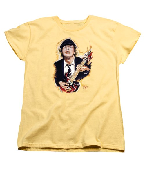 Angus Young Women's T-Shirt (Standard Cut) by Melanie D