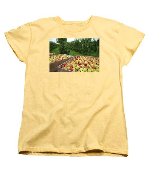 Apple Harvest Women's T-Shirt (Standard Cut) by Hans Engbers