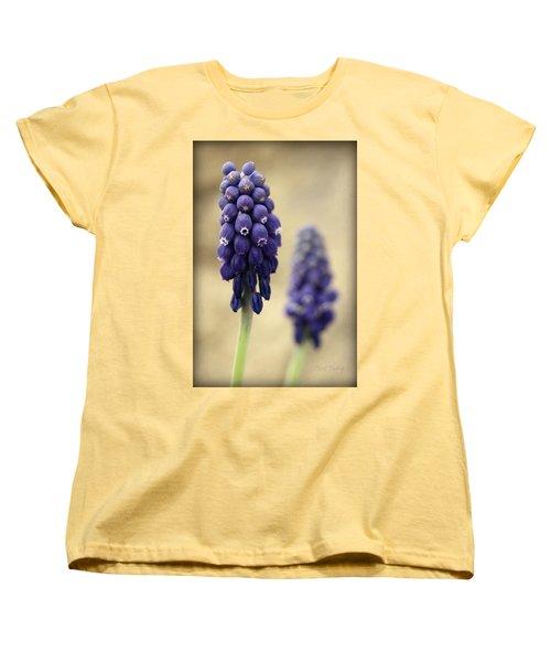 Women's T-Shirt (Standard Cut) featuring the photograph April Indigo by Chris Berry