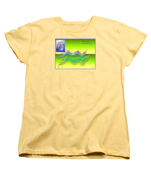 Women's T-Shirt (Standard Cut) featuring the digital art Aquarius By Alice Terrill And Will Baumol by The Art of Alice Terrill
