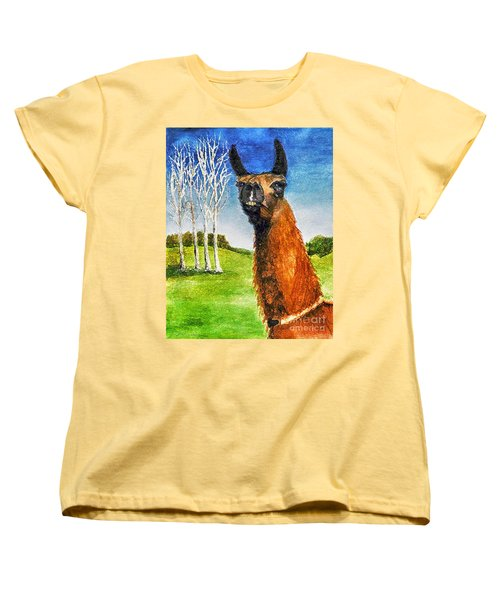 Women's T-Shirt (Standard Cut) featuring the painting Archimedes by Polly Peacock